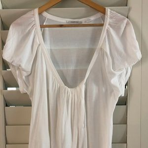 Country Road Size XL White T-Shirt V Neck -